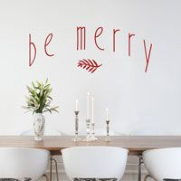Be Merry - Holidays - Christmas - Winter - Wall Decals