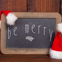 Be Merry - Holidays - Christmas - Winter - Seasonal Wall Decals
