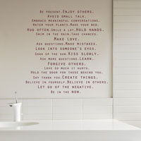 Be Present - Life Mantra - Words of Wisdom & Positivity - Quote Wall Decals