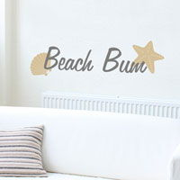 Beach Bum - Wall Decals