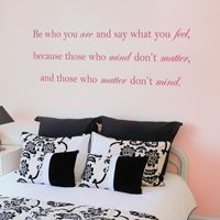 Be Who You Are - Quote - Wall Decals