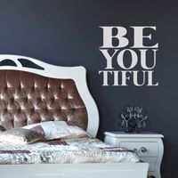 BeYouTiful - Be You - Inspirational Quote - Wall Decals - Words