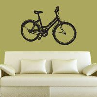 Sketched Bicycle - Wall Decal