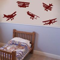 Air Show - Set of 5 - Airplane Wall Decals