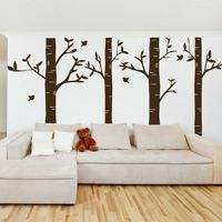 Birch Tree Forest - Set of 4 - Wall Decals