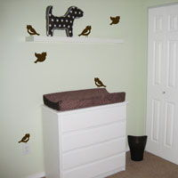 Cute Little Birds - Set of Six - Wall Decals