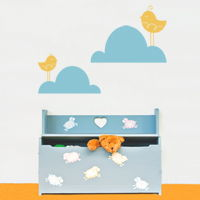 Birds in the Clouds - Set of 2 - Wall Decals