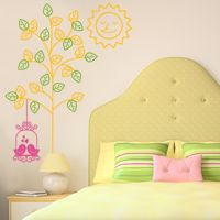 Love Birds Swinging on a Tree - Wall Decals