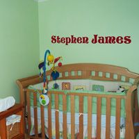 Block Lettering - Personalized - Your Child's Name - Wall Decals