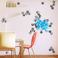 Colorful Geometric Cubes - Printed Wall Decals