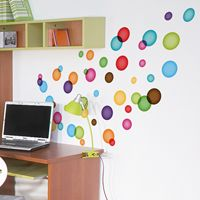 Colorful Floating Bubbles - Printed Wall Decals