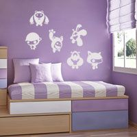 Bubbly Characters - Set of 6 - Wall Decals