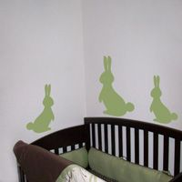 Bunny Rabbits - Set of 5 - Wall Decals