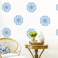 Mod Star Bursts - Set of 8 - Printed Wall Decals