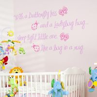 Butterfly Kisses & Ladybug Hugs - Quote - Wall Decals