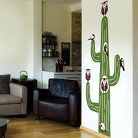 Cactus Animal Tree House - Wall Decals