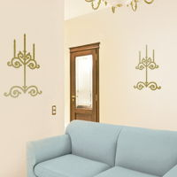 Candelabras - Set of 2 - Wall Decals