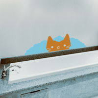 Cat in the Bubble Bath - Wall Decals