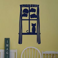 Cat on a windowsill - Furniture - Wall Decals