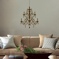Fancy Crystal Chandelier - Vinyl Wall Decals