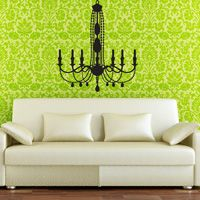Giant Fancy Chandelier with Candles - Wall Decal -
