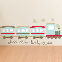 Choo Choo Little Train - Quote - Printed Wall Decals