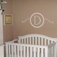 Pretty Monogram with Scrolls - Wall Decals