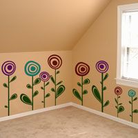 Cute Circle Flowers - Set of 14 - Wall Decals