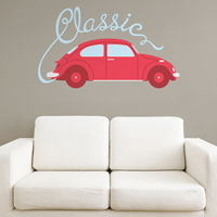Classic Car - Printed Wall Decals