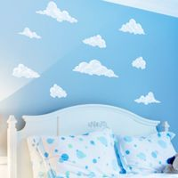 Peaceful Clouds in the Sky - Set of 12 - Printed Wall Decals