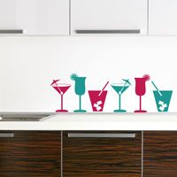 Cocktails - Set of 6 - Wall Decals