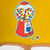 Giant Colorful Bubblegum Machine - Printed Wall Decals