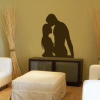 Two People in the Water - Silhouette - Wall Decals