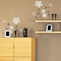 Cute & Simple Flowers - Set of 10 - Wall Decals