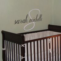 Classy & Simple Mongram - Personalized Names - Wall Decals