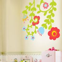 Colorful Vines & Flowers - Printed Wall Decals