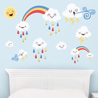 Super Cute Weather Fun Time - Printed Wall Decals