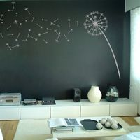 Dandelion Blowing in the Wind - Wall Decals