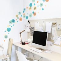 Dandelions & Flowers with Bubbles - Printed Wall Decals