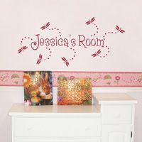 Dragonflies and Trails - Personalized Monogram - Wall Decals