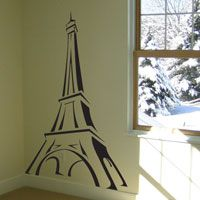 Eiffel Tower Sketch - Vinyl Wall Decals