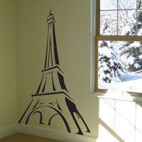 Eiffel Tower Sketch - Vinyl Wall Decals