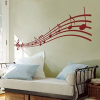 Music to my Eyes - Musical Notes - Wall Decals