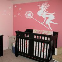 Fairy with a Blowing Dandelion - Wall Decals