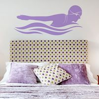 Butterfly Stroke - Female Swimmer - Wall Decals