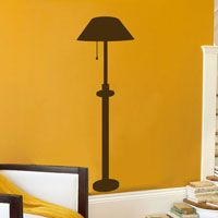 Faux Lamp - Wall Decal