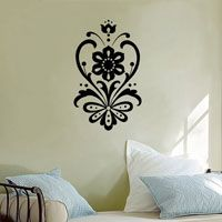 Swirling Victorian Flourish - Vinyl Wall Decal