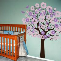 Flowering Tree with Butterflies - Wall Decals