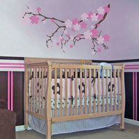 Flowering Cherry Blossom Branch - Wall Decals