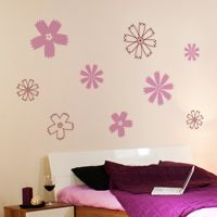 Fun Flowers - Set of 16 - Wall Decals